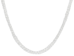 Pre-Owned Sterling Silver Multi-Strand Braided Mesh Necklace