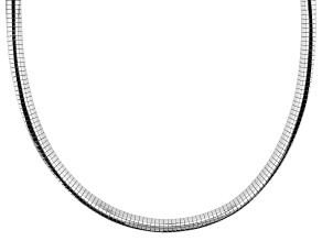Pre-Owned Sterling Silver 5.5 MM Polished Omega Necklace 20 Inch