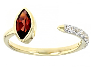Pre-Owned Red Garnet 10k Yellow Gold Ring 0.93ctw