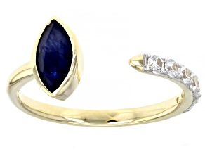 Pre-Owned Blue Sapphire 10k Yellow Gold Ring 0.98ctw