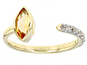 Pre-Owned Yellow Citrine 10k Yellow Gold Ring 0.82ctw