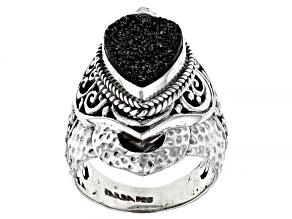 Pre-Owned Black Night™ Drusy Quartz Sterling Silver Ring