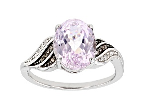 Pre-Owned Pink Kunzite Rhodium Over Sterling Silver Ring 2.62ctw