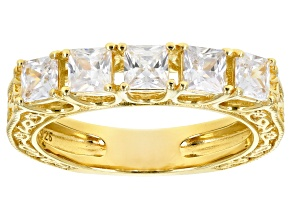 Pre-Owned White Cubic Zirconia 18K Yellow Gold Over Sterling Silver Ring 2.25ctw