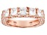 Pre-Owned White Cubic Zirconia 18K Rose Gold Over Sterling Silver Band Ring 2.25ctw