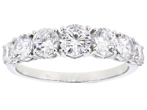 Pre-Owned White Cubic Zirconia Rhodium Over Sterling Silver Band Ring 3.52ctw