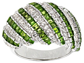 Pre-Owned Chrome Diopside Rhodium Over Sterling Silver Ring 2.35ctw