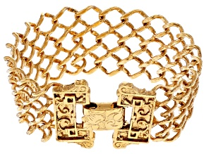 Pre-Owned Gold-Tone Interlaced Link Chain Bracelet