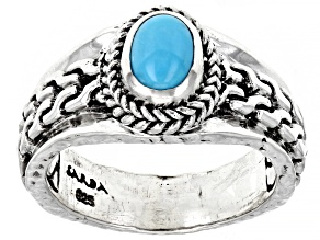 Pre-Owned Sleeping Beauty Turquoise Silver Ring