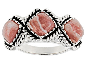 Pre-Owned Pink Rhodochrosite Silver Ring