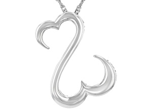 Pre-Owned Rhodium Over Sterling Silver Pendant With Chain