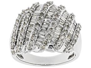 Pre-Owned White Diamond 10k White Gold Ring 2.00ctw