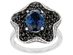 Pre-Owned London Blue Topaz Rhodium Over Silver Ring 3.85ctw