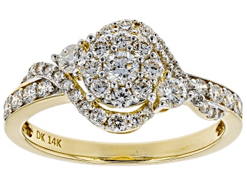 Picture of Pre-Owned White Lab-Grown Diamond 14K Yellow Gold Ring 0.75ctw