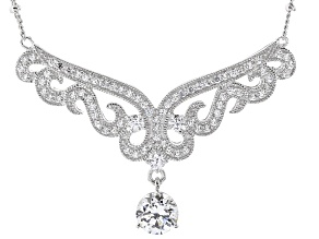 Pre-Owned White Cubic Zirconia Platineve Necklace 2.65ctw