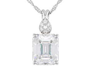 Pre-Owned Moissanite platineve pendant 6.61ctw DEW.