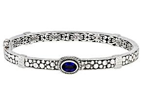 Pre-Owned Kyanite Sterling Silver Bangle Bracelet 0.86ctw