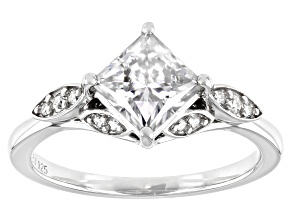 Pre-Owned Moissanite platineve ring 1.46ctw DEW.
