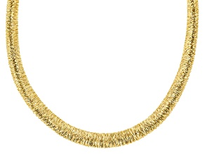 """Pre-Owned 18K Yellow Gold Over Sterling Silver Graduated Wire-Wrapped Omega 18"""" Necklace"""