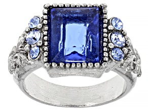 Pre-Owned Crystal Silver-Tone Ring