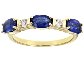 Pre-Owned Blue Kyanite 18K Yellow Gold Over Sterling Silver Ring 1.80ctw
