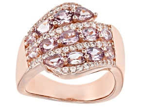 Pre-Owned Multicolor Garnet 18K Rose Gold Over Sterling Silver Ring 2.46ctw