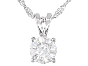Pre-Owned Moissanite Platineve Pendant 1.00ct D.E.W