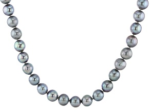 Pre-Owned Silver Cultured Freshwater Pearl Rhodium Over Sterling Silver 24 Inch Necklace