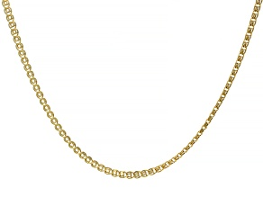 Pre-Owned 10K Yellow Gold 2.5MM Designer Love Chain 20 Inch Necklace