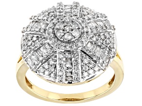 Pre-Owned White Diamond 10k Yellow Gold Ring 0.90ctw