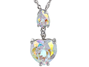 Pre-Owned Mercury Mist® Topaz Rhodium Over Silver Pendant with Chain 7.74ctw