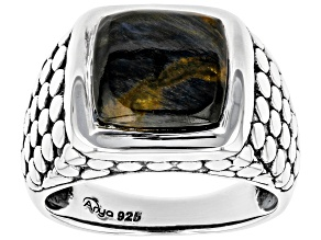 Pre-Owned Pietersite Sterling Silver Ring