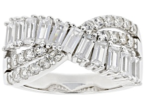 Pre-Owned White Cubic Zirconia Platinum Over Sterling Silver Ring 2.79ctw