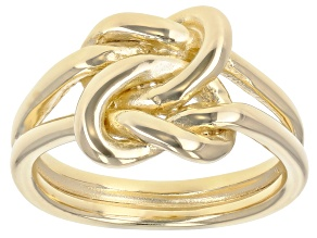 Pre-Owned 10K Yellow Gold Over Sterling Silver Knot Ring