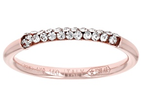 Pre-Owned Splendido Oro Divino™ 14K Rose Gold with Sterling Silver Core Crystal Band Ring