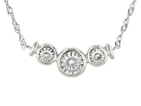 Pre-Owned White Cubic Zirconia Platinum Over Sterling Silver Necklace 2.26ctw