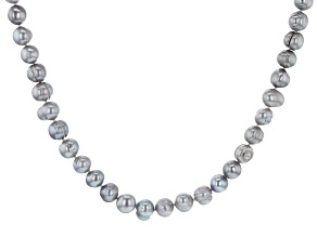 Pre-Owned Silver Cultured Freshwater Pearl 82 Inch Endless Strand Necklace
