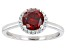 Pre-Owned Red And White Cubic Zirconia Rhodium Over Sterling Silver Ring 2.25ctw