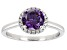 Pre-Owned Purple And White Cubic Zirconia Rhodium Over Sterling Silver Ring 2.53ctw