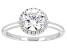 Pre-Owned White Cubic Zirconia Rhodium Over Sterling Silver Ring 2.56ctw
