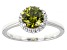 Pre-Owned Green And White Cubic Zirconia Rhodium Over Sterling Silver Ring 2.64ctw