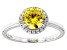 Pre-Owned Yellow And White Cubic Zirconia Rhodium Over Sterling Silver Ring 2.48ctw