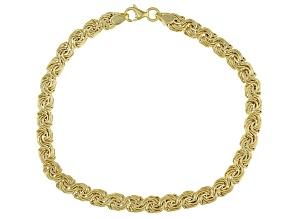 Pre-Owned 10K Yellow Gold 5MM Domed Rosetta Link Bracelet