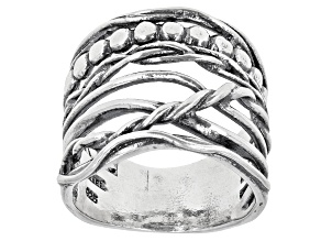 Pre-Owned Sterling Silver Multi-Row Ring