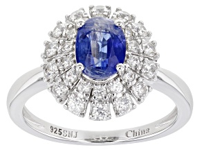 Pre-Owned Blue Kyanite Rhodium Over Silver Ring 2.45ctw