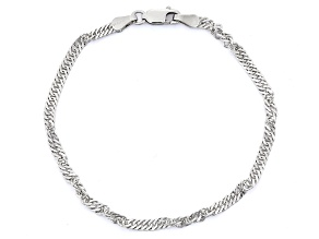 Pre-Owned Sterling Silver Thick Wavy Textured Bangle
