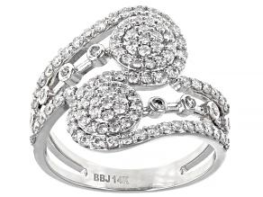 Pre-Owned White Lab-Grown Diamond 14K White Gold Ring 0.92ctw
