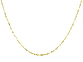 Pre-Owned 10k Yellow Gold Singapore Necklace 24 inch