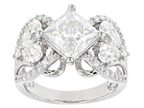 Pre-Owned Moissanite Platineve Ring 5.20ctw DEW.