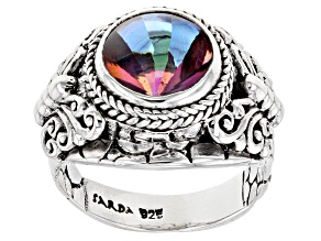 Pre-Owned Zodiac Fun™ Mystic Quartz® Silver Ring 2.98ct